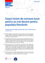 Coşul minim de consum lunar pentru un trai decent pentru populaţia României